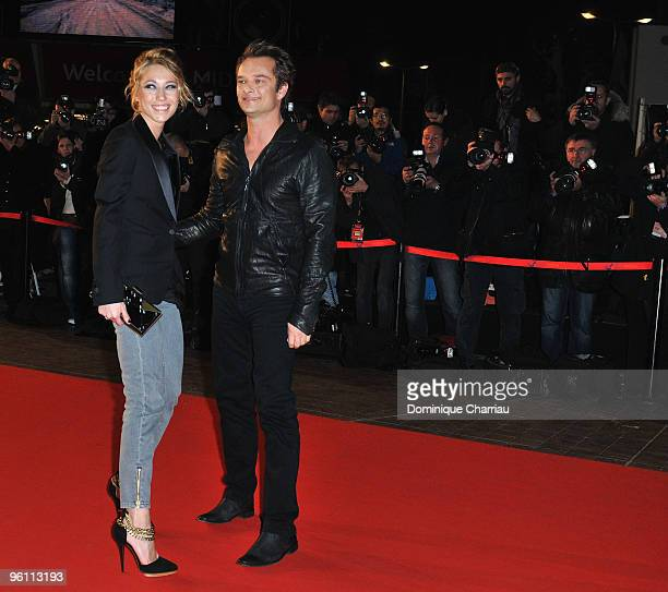 David Hallyday and Laura Smet attend the NRJ Music Awards 2010 at Palais des Festivals on January 23 2010 in Cannes France