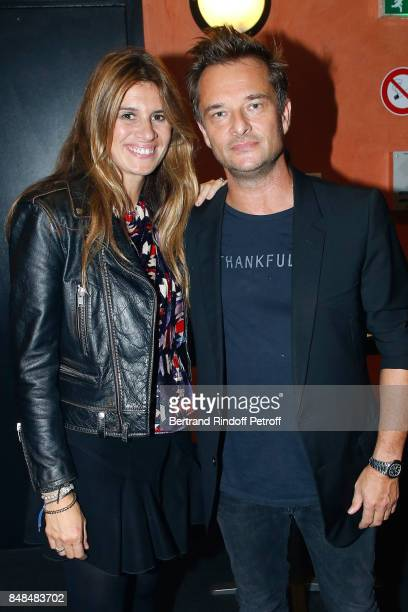 David Hallyday and wife Alexandra attend Sylvie Vartan performs at L'Olympia on September 15, 2017 in Paris, France.