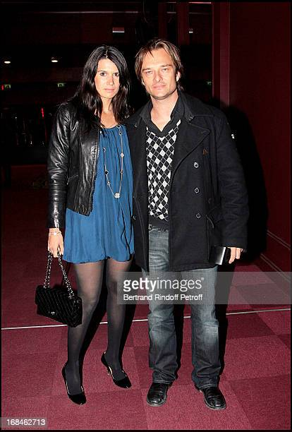 David Hallyday and wife Alexandra Pastor at Screening Of The Film Shine A Light By Martin Scorsese At Olympia In Paris