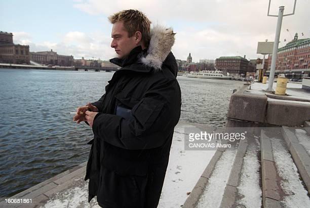 David Hallyday In Stockholm For The Recording Of A Single Stockholm 21 janvier 2000 A l'occasion de la réalisation d'un single portrait de David...