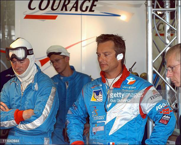 David Hallyday, Philippe Alliot and Carl Rosenblad in Le Mans, France on June 15, 2003.