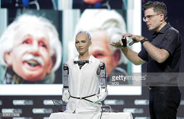 David Hanson founder and CEO of Hanson Robotics a company that strives to create robots as brilliant as people what Dr Hanson calls Genius Machines...