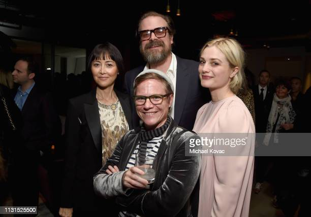 David Harbour and Alison Sudol attend the 12th Annual Women in Film Oscar Nominees Party Presented by Max Mara with additional support from Chloe...
