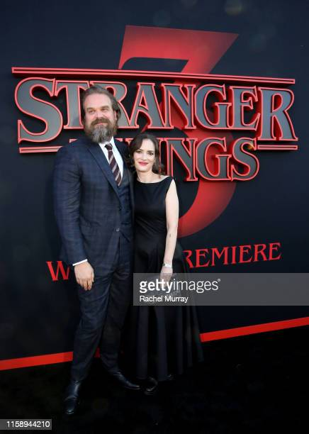 David Harbour and Winona Ryder attend the Stranger Things Season 3 World Premiere on June 28 2019 in Santa Monica California
