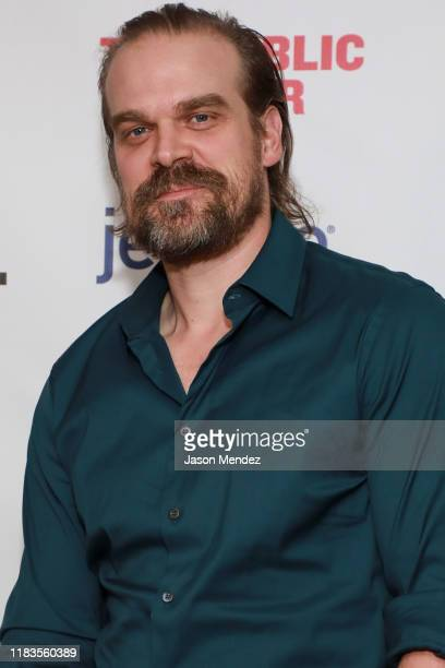 "David Harbour attend ""A Bright Room Called Day"" Opening Night at The Public Theater on November 19, 2019 in New York City."