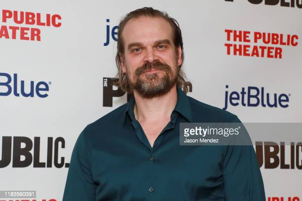 David Harbour attend A Bright Room Called Day Opening Night at The Public Theater on November 19 2019 in New York City