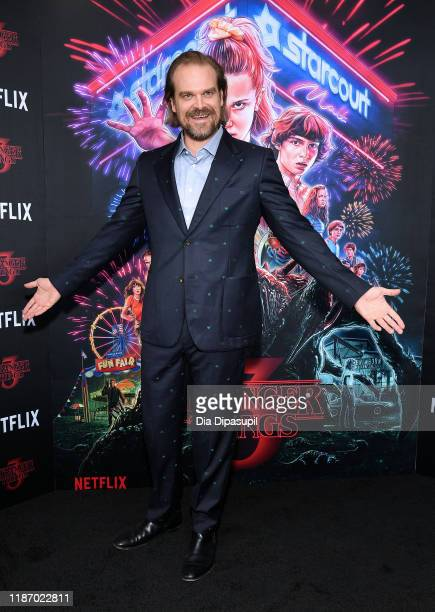 "David Harbour attends a ""Stranger Things"" Season 3 New York Screening at DGA Theater on November 11, 2019 in New York City."