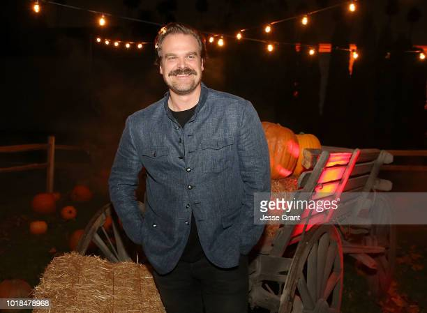 David Harbour attends Netflix's Stranger Things 12 Emmy nominations celebration at Hollywood Forever on August 17 2018 in Hollywood California
