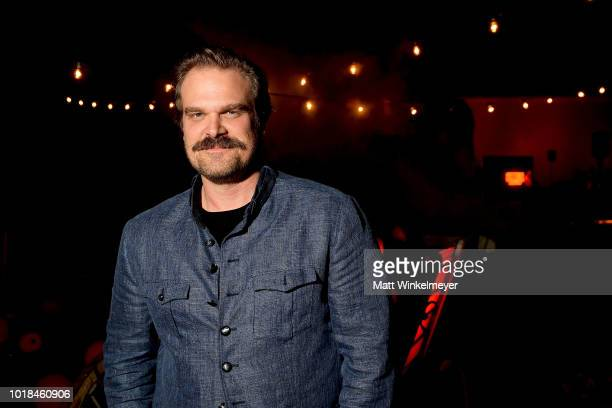 David Harbour attends Netflix's Stranger Things celebrates 12 Emmy nominations at Hollywood Forever on August 17 2018 in Hollywood California