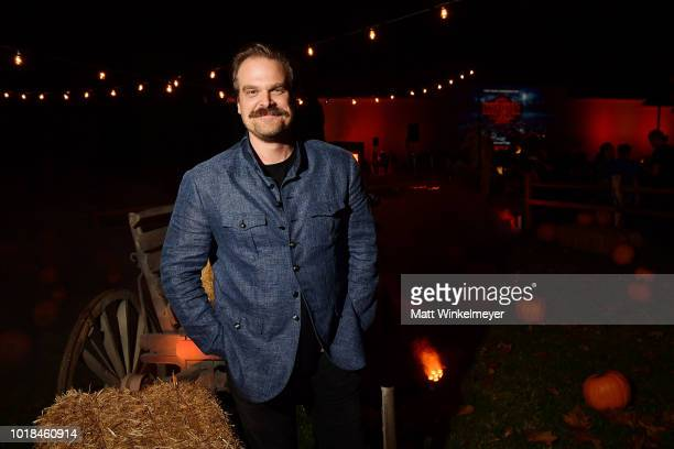 "David Harbour attends Netflix's ""Stranger Things"" celebrates 12 Emmy nominations at Hollywood Forever on August 17, 2018 in Hollywood, California."