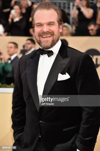 David Harbour attends the 24th Annual Screen ActorsGuild Awards at The Shrine Auditorium on January 21 2018 in Los Angeles California