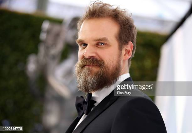 David Harbour attends the 26th Annual Screen Actors Guild Awards at The Shrine Auditorium on January 19, 2020 in Los Angeles, California.