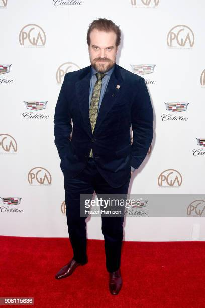 David Harbour attends the 29th Annual Producers Guild Awards at The Beverly Hilton Hotel on January 20 2018 in Beverly Hills California