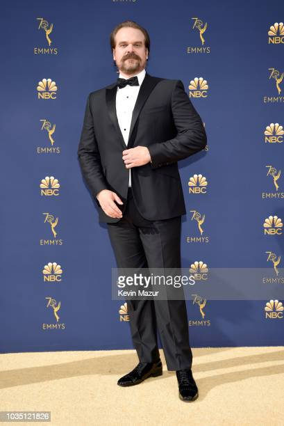 David Harbour attends the 70th Emmy Awards at Microsoft Theater on September 17 2018 in Los Angeles California