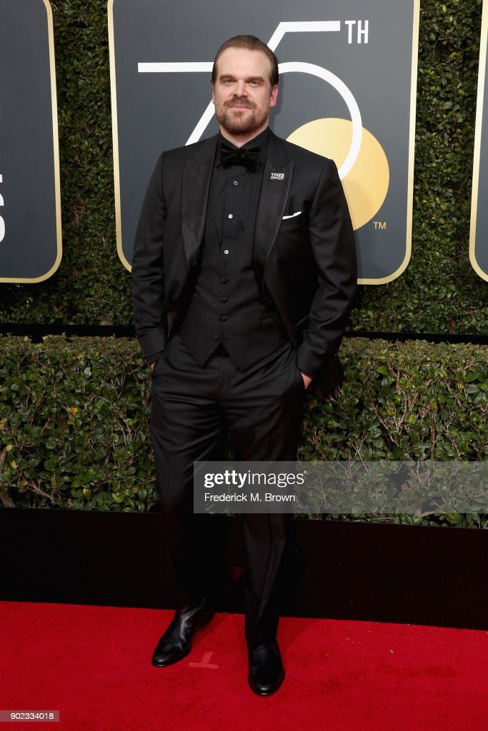 David Harbour attends The 75th Annual Golden Globe Awards at The Beverly Hilton Hotel on January 7, 2018 in Beverly Hills, California.