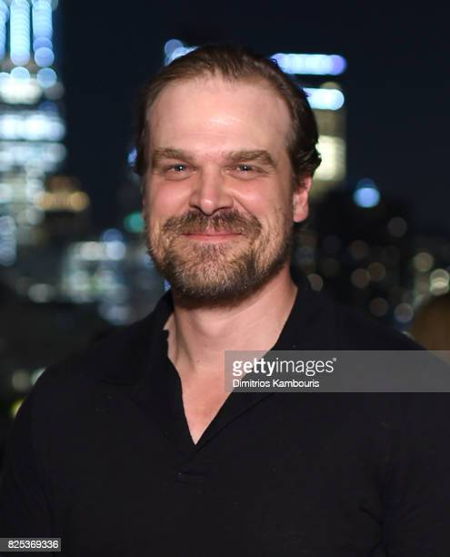David Harbour attends the Fun Mom Dinner After Party at The Jimmy at the James Hotel on August 1 2017 in New York City