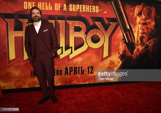 David Harbour attends the Hellboy New York Screening at AMC Lincoln Square Theater on April 09 2019 in New York City