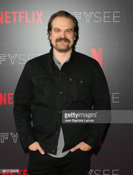 David Harbour attends the Netflix #FYSee 'Scene Stealers' on May 10 2018 in Hollywood California