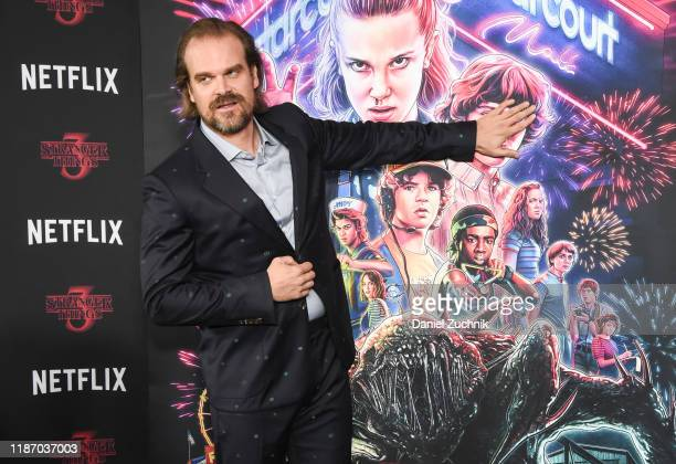 "David Harbour attends the New York Screening of ""Stranger Things"" Season 3 at DGA Theater on November 11, 2019 in New York City."