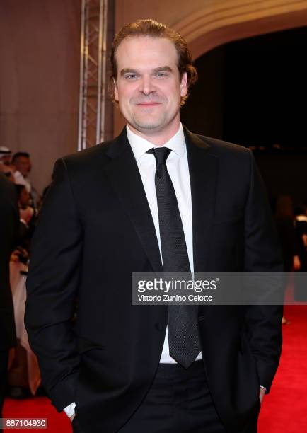 David Harbour attends the Opening Night Gala of the 14th annual Dubai International Film Festival held at the Madinat Jumeriah Complex on December 6...