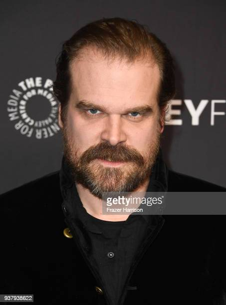 David Harbour attends The Paley Center for Media's 35th Annual PaleyFest Los Angeles 'Stranger Things' at Dolby Theatre on March 25 2018 in Hollywood...