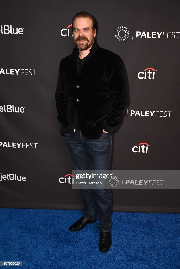 David Harbour attends The Paley Center for Media's 35th Annual PaleyFest Los Angeles - 'Stranger Things' at Dolby Theatre on March 25, 2018 in Hollywood, California.