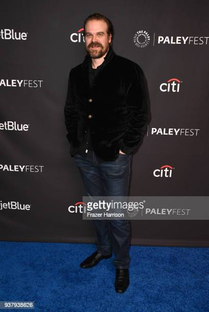 David Harbour attends The Paley Center for Media's 35th Annual PaleyFest Los Angeles Stranger Things at Dolby Theatre on March 25 2018 in Hollywood...