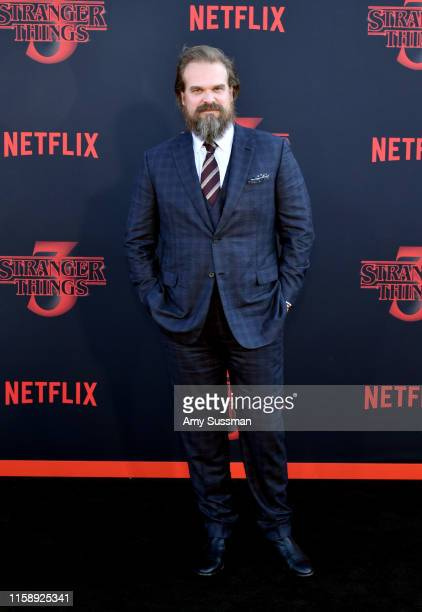David Harbour attends the premiere of Netflix's Stranger Things Season 3 on June 28 2019 in Santa Monica California