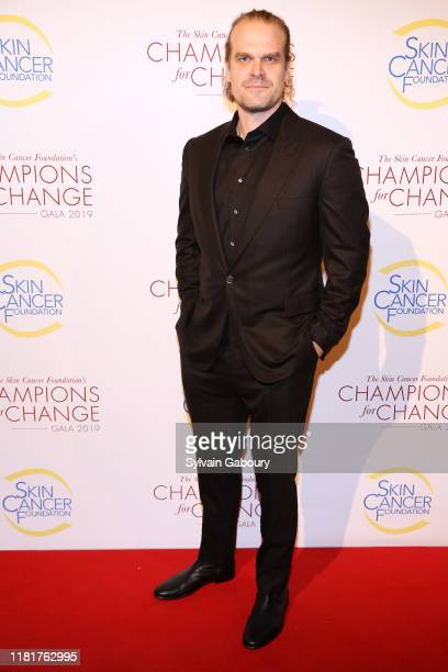 David Harbour attends The Skin Cancer Foundation's Champions For Change Gala at The Plaza on October 17, 2019 in New York City.