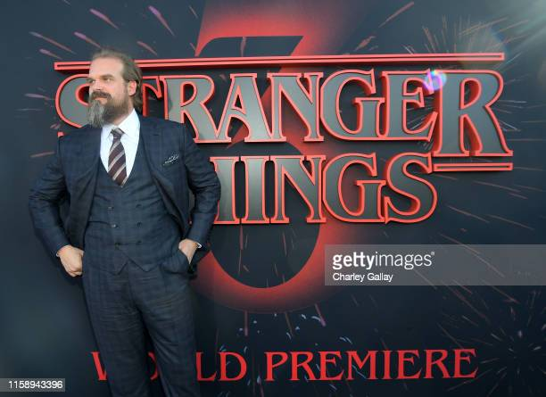 David Harbour attends the Stranger Things Season 3 World Premiere on June 28 2019 in Santa Monica California