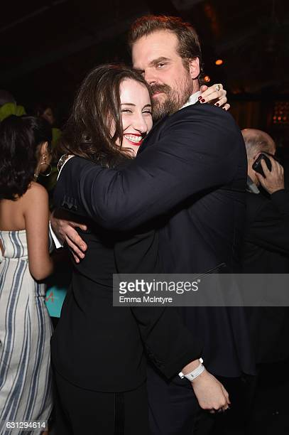 David Harbour attends The Weinstein Company and Netflix Golden Globe Party presented with FIJI Water Grey Goose Vodka Lindt Chocolate and Moroccanoil...
