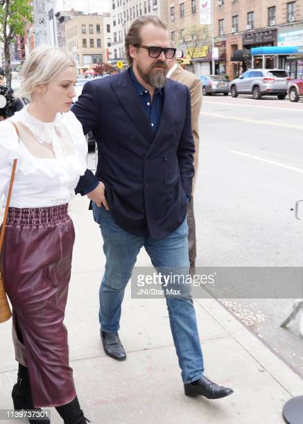 David Harbour is seen on April 27, 2019 in New York City.