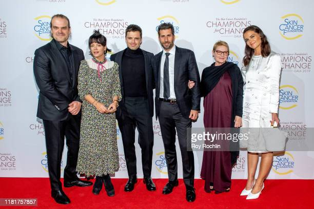 David Harbour Lily Allen Sebastian Stan Adam Schweitzer Dianne Wiest and Katie Holmes attend the 2019 Skin Cancer Foundation's Champions For Change...