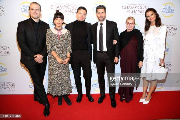 David Harbour Lily Allen Sebastian Stan Adam Schweitzer Dianne Wiest and Katie Holmes attend The Skin Cancer Foundation's Champions For Change Gala...