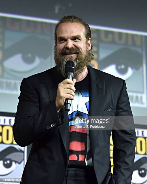 David Harbour of Marvel Studios' 'Black Widow' at the San Diego ComicCon International 2019 Marvel Studios Panel in Hall H on July 20 2019 in San...