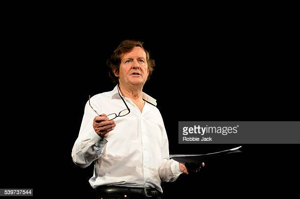 """David Hare in the Royal Court's production of his play """"Wall"""", directed by Stephen Daldry in the Jerwood Theatre Downstairs at the Royal Court in..."""