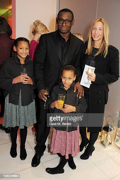 David Harewood and Kirsty Handy attend the English National Ballet Christmas Party at St Martins Lane Hotel on December 13 2012 in London England