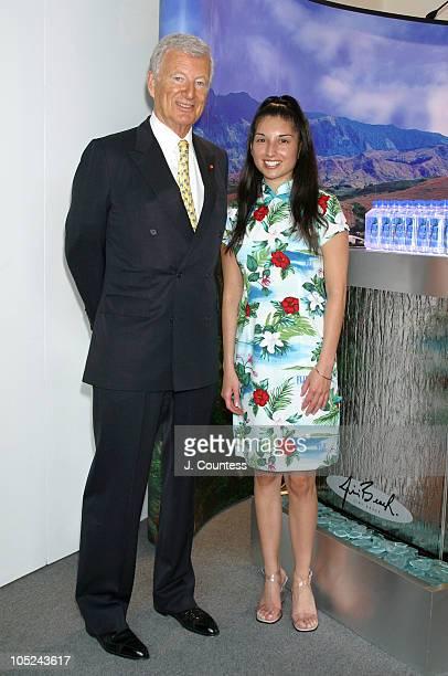 David Harrison Gilmour President of Fiji Water and Sue Lynn Sanchez spokesmodel for Fiji Water