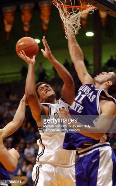 David Harrison is fouled by 21 Ivan Sulic KSU