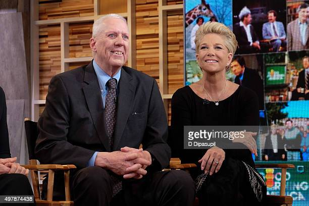 David Hartman and Joan Lunden attend Good Morning America's 40th Anniversary at GMA Studios on November 19 2015 in New York City