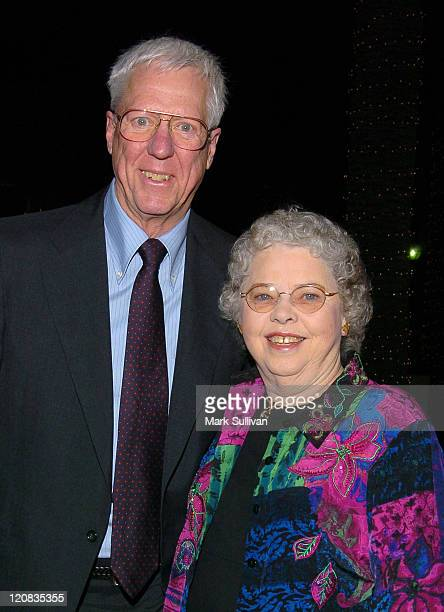 David Hartman and Joanne Rogers during Academy of Television Arts Sciences Presents A Tribute To Fred Rogers at Academy of Television Arts Sciences...