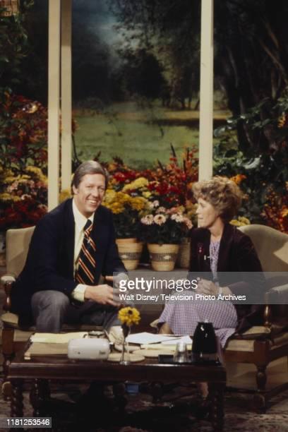 David Hartman, Erma Bombeck appearing on ABC's 'Good Morning America'.
