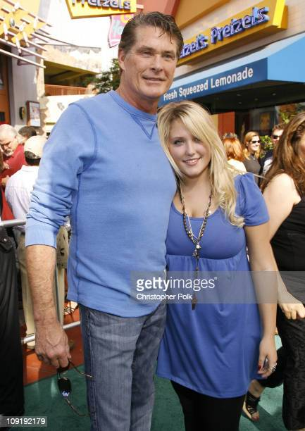 David Hasselhoff and daughter Hayley Hasselhoff during Evan Almighty World Premiere Presented by Universal Pictures Red Carpet and After Party at...