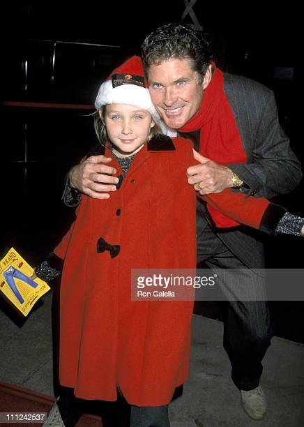 David Hasselhoff and Daughter Hayley Hasselhoff during Opening Night of The Radio City Christmas Show at Universal Ampitheater in Universal City...