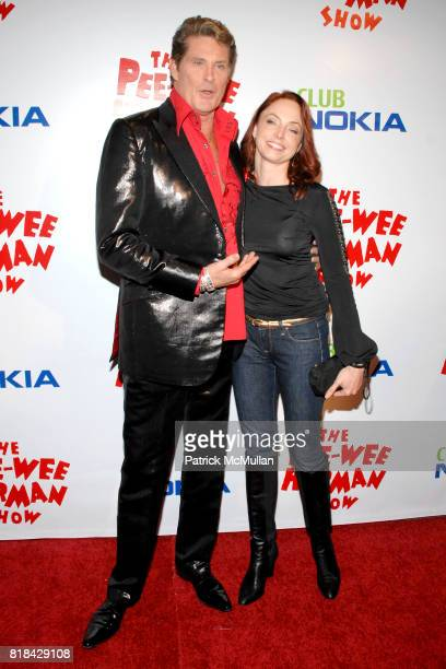 David Hasselhoff and guest attend The Pee Wee Herman Show Opening Night at Club Nokia on January 20 2010 in Los Angeles California