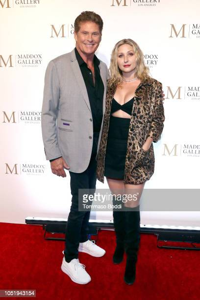 David Hasselhoff and Hayley Hasselhoff attend the Grand Opening Maddox Gallery Los Angeles on October 11 2018 in West Hollywood California