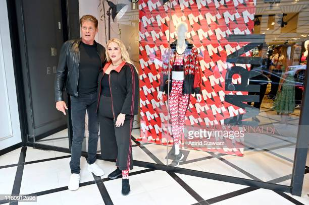 David Hasselhoff and Hayley Hasselhoff attend the GYM Capsule Collection at Marina Rinaldi Boutique on July 08 2019 in New York City