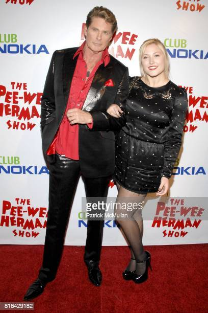 David Hasselhoff and Hayley Hasselhoff attend The Pee Wee Herman Show Opening Night at Club Nokia on January 20 2010 in Los Angeles California