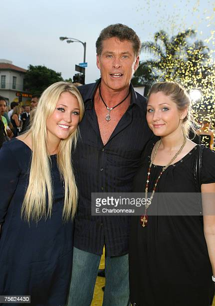 David Hasselhoff and his daughters Hayley Hasselhoff and Taylor Hasselhoff