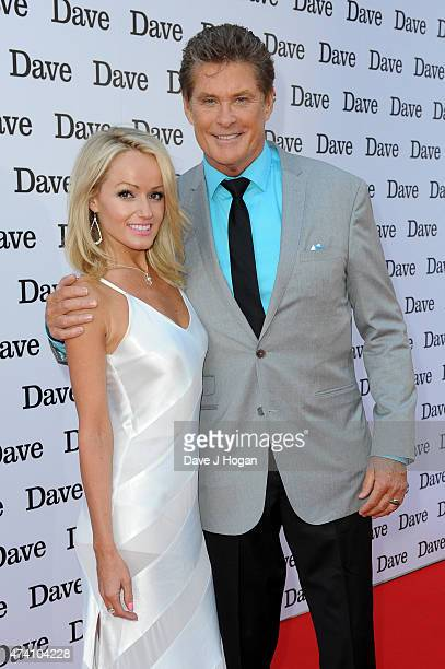 David Hasselhoff and his girlfriend Hayley Roberts attend the UK screening of 'Hoff The Record' at The Empire Leicester Square on May 20 2015 in...